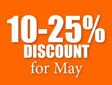 June Special: 10-20% discount on all rentals